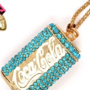 New Gold tone and crystal Coke Can